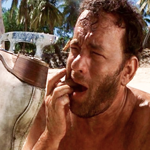 Tom Hanks from movie Cast Away